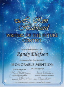 The Lute of Gildyn, Writers of the Future award