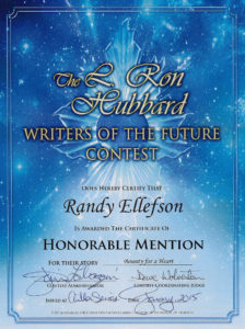 Bounty for a Heart, Writers of the Future award